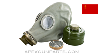 Soviet GP5 Gas Mask and Filter, *Good*