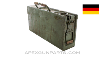 German MG Ammo Can, WWII, Lightweight Aluminium, Refinished, Green, *Good*