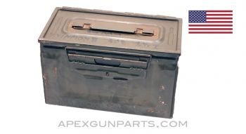 Browning M2 .50 Cal. Ammo Can, Steel w/ Carry Handle, Green, *Good*