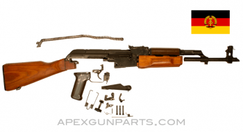 1966 'First Run' East German AK-47 MPi-KM Parts Kit, Wood Stock, Sanitized Trunnion, Blued, 7.62X39, *Excellent*