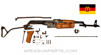 East German AK-47 MPi-KM Parts Kit, Side Folding Stock, Wood Furniture, Sanitized, 7.62X39, *Very Good*