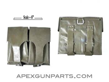 G3/HK91 Two Magazine Divided Pouch, OD Vinyl