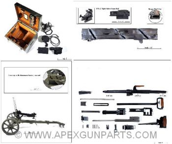 Goryunov SG-43 Parts Kit w/Carriage Mount, Night Vision Scope, Cut Receiver & Demil Barrel, 7.62X54R, *Good*