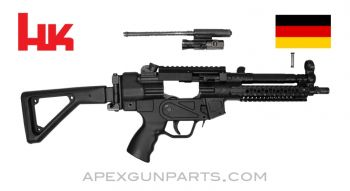 "H&K MP5 Parts Kit, 8.5"" BBL, 3 Position Lower (S, E, F), Folding Stock, Picatinny Scope & Acc. Rails, 9mm, *Very Good*"