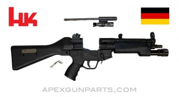"H&K MP5 Parts Kit, 8.5"" BBL, 3 Position Lower (S, E, F), Polymer Fixed Stock, In-Line Light Forearm, 9mm NATO, *Very Good*"