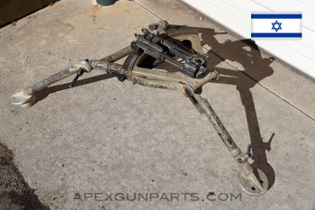 MAG58 / M240 / M249 Tripod, No Rear Pin, Israeli, FDE Tan, *Good*