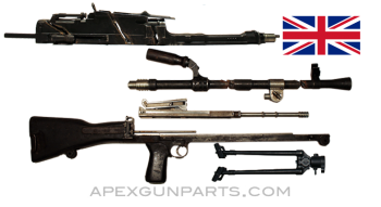 Bren Mk III Parts Kit with Cut Receiver Pieces & Demilled Barrel, .303 British, *Good*