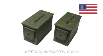 USGI .50 Cal. Ammo Can M2A1, Steel w/ Carry Handle, Green, *Good to Very Good*
