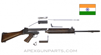"Indian L1A1 FAL Rifle Parts Kit, 21"" Barrel, Wood Furniture, 7.62X51 NATO, *Good / Repaired*"