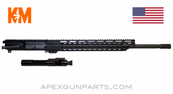 "KM Tactical Upper w/Bolt & Carrier, 20"" HBAR 1-8, 15"" KeyMod Rail, .223 Wylde, *NEW*"