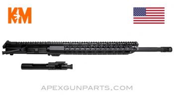 "KM Tactical Upper w/Bolt & Carrier, 20"" HBAR 1-8, 15"" M-LOK Rail, .223 Wylde, *NEW*"