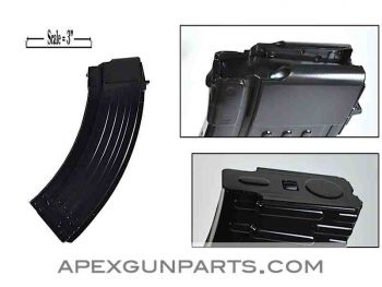 AK47 30rd Steel Magazine, 7.62X39, KCI, Black, NEW