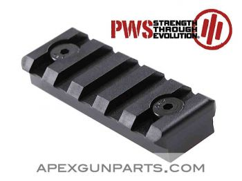 PWS KeyMod Picatinny Rail Section, 5 Slot, Aluminum, NEW, US Made