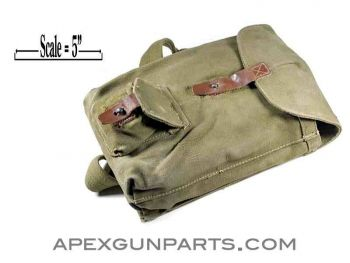 Romanian AK47 Four-40rd Magazine Divided Pouch, Green Canvas