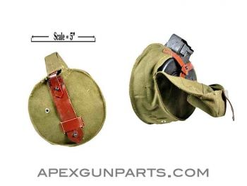 AK47 75rd Drum Pouch, Romanian Military Issue