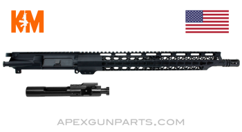 "KM Tactical Upper w/Bolt & Carrier, 16"" M4 Barrel 1-8, 15"" KeyMod Rail, 5.56 NATO, *NEW*"